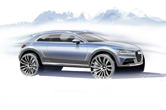 Audi Crossover Concept 2014 Detroit Front Three Quarter1 660x438