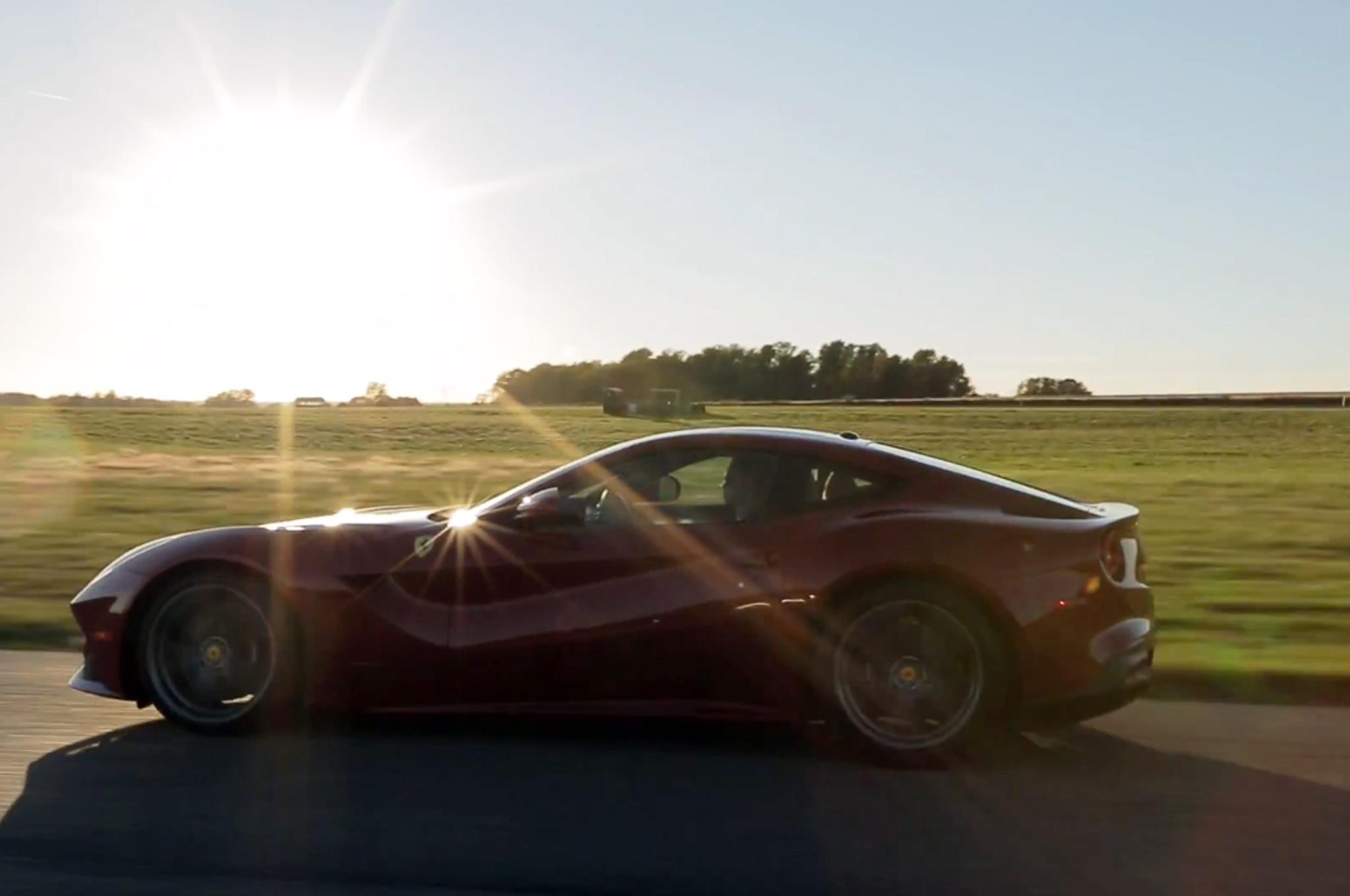 Ferrari F12 Berlinetta At Gingerman Side View