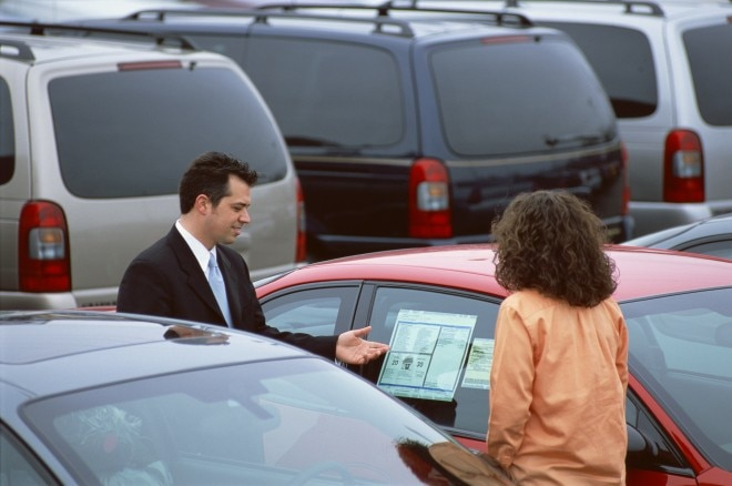Woman With Car Salesman 660x438