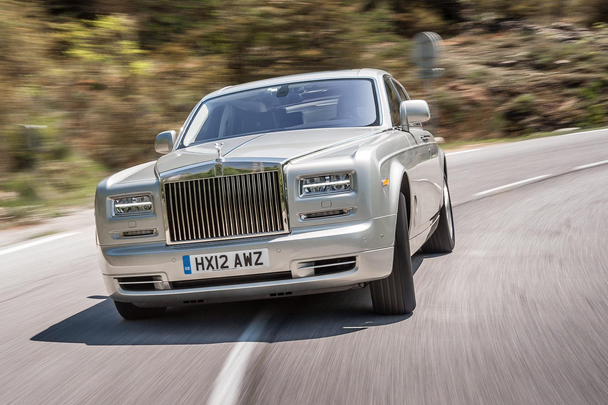 2013 Rolls Royce Phantom Front Drivers View In Motion