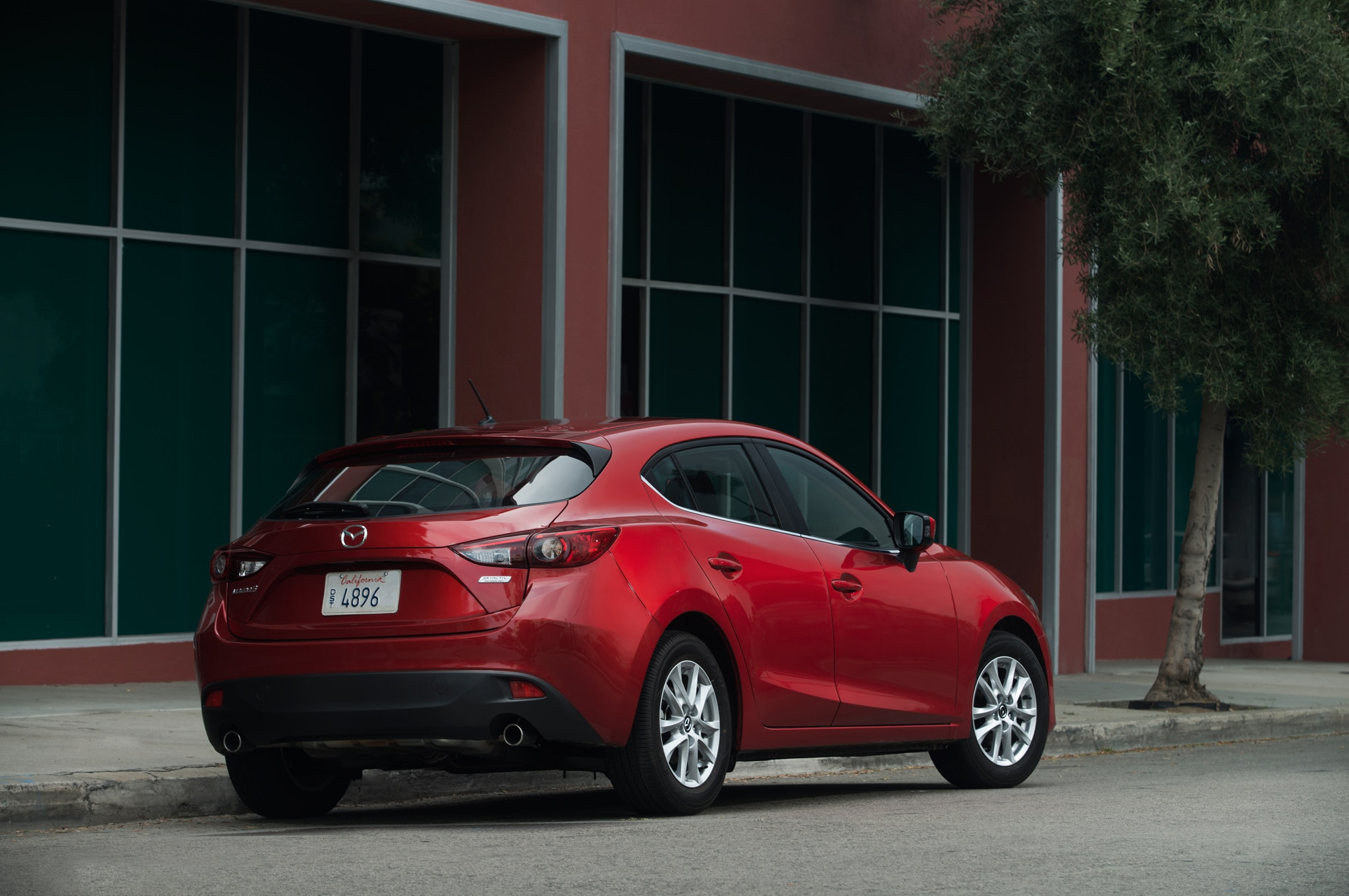 2014 Mazda3 Red Rear Three Quarters