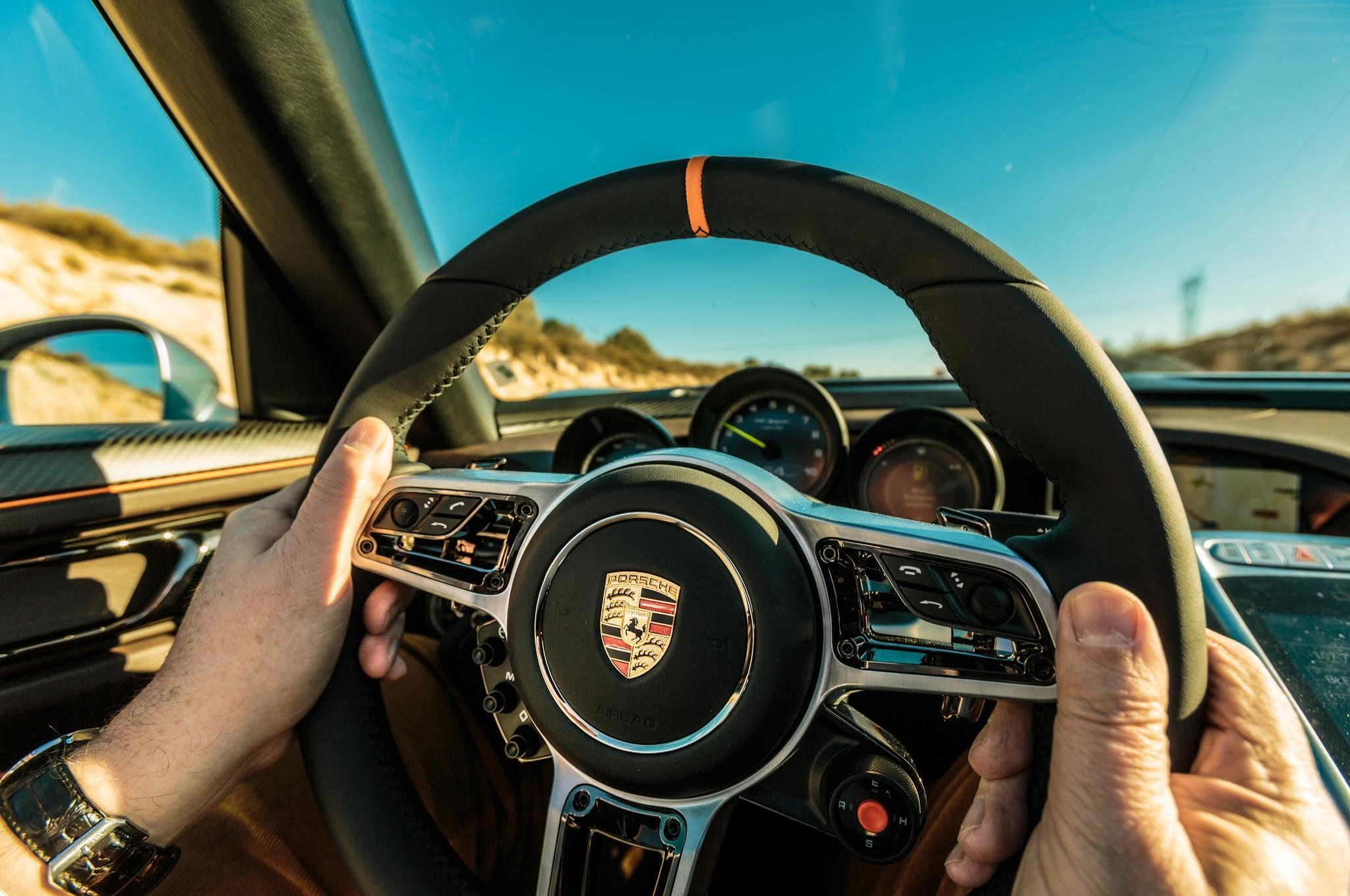2014-Porsche-918-Spyder-in-Germany-steering-wheel-02 Fabulous Porsche 918 Spyder Real Racing 3 Price Cars Trend
