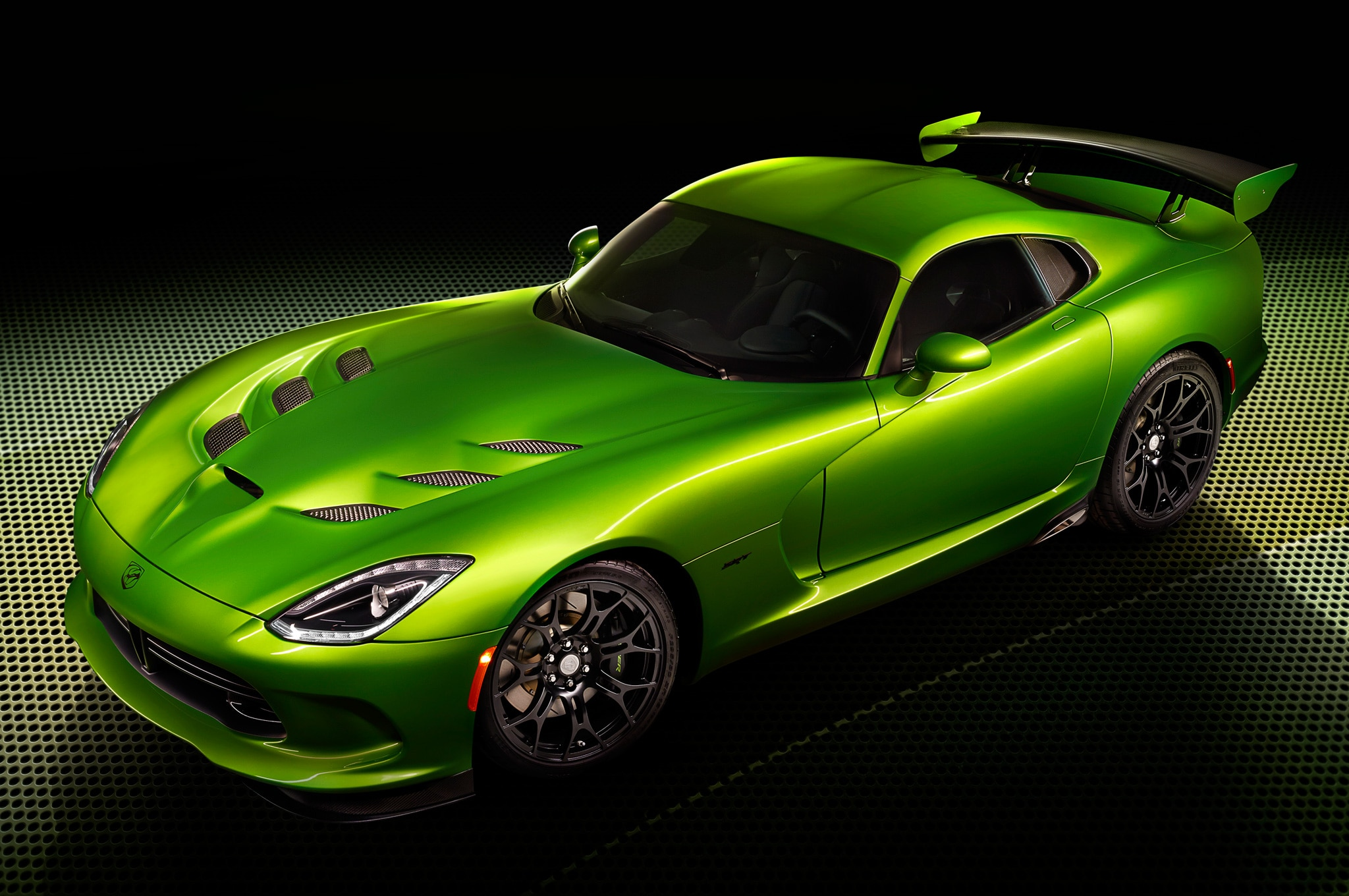2014 SRT Viper Stryker Green Front Side View1