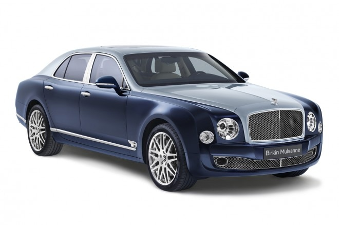 2014 Bentley Mulsanne Birkin Edition Dark Sapphire Front Three Quarters 660x438