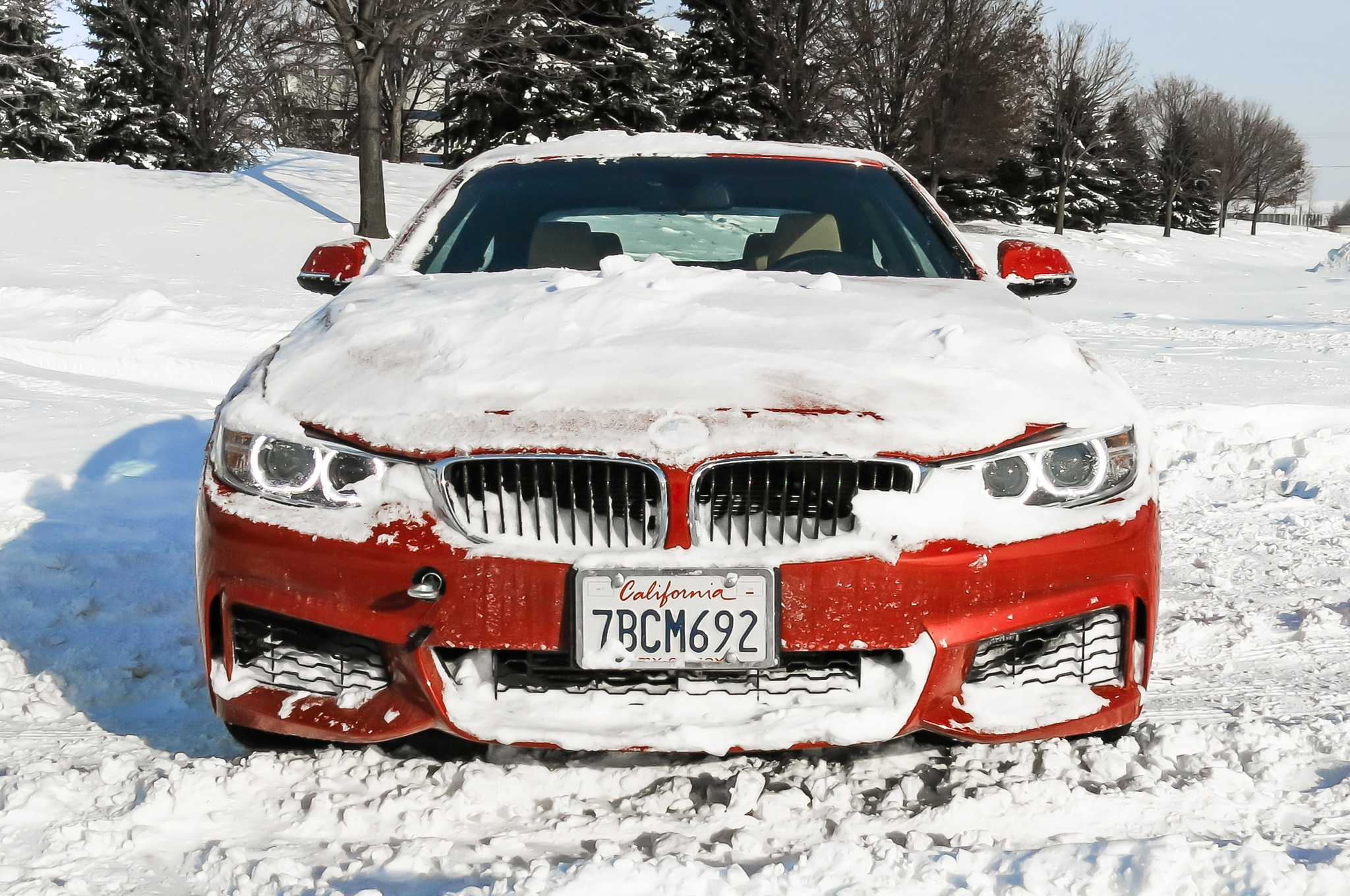 2014 Bmw 428i In Snow Front