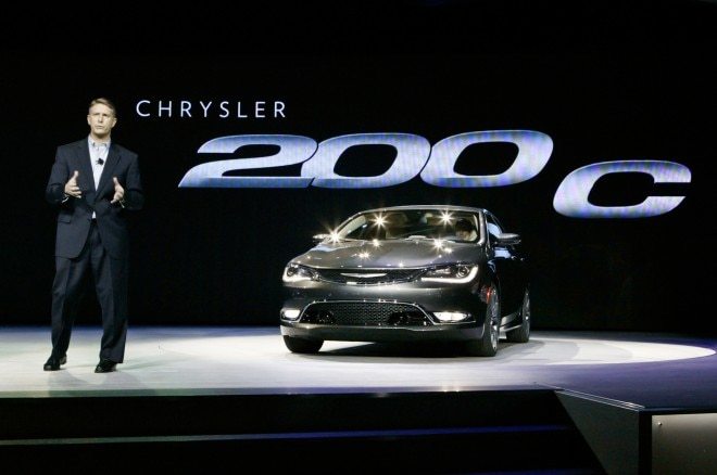 2015 Chrysler 200 C Front View On Stage 660x438
