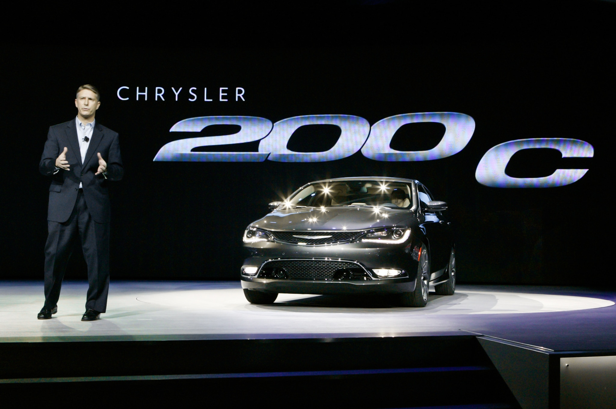 2015 Chrysler 200 C Front View On Stage