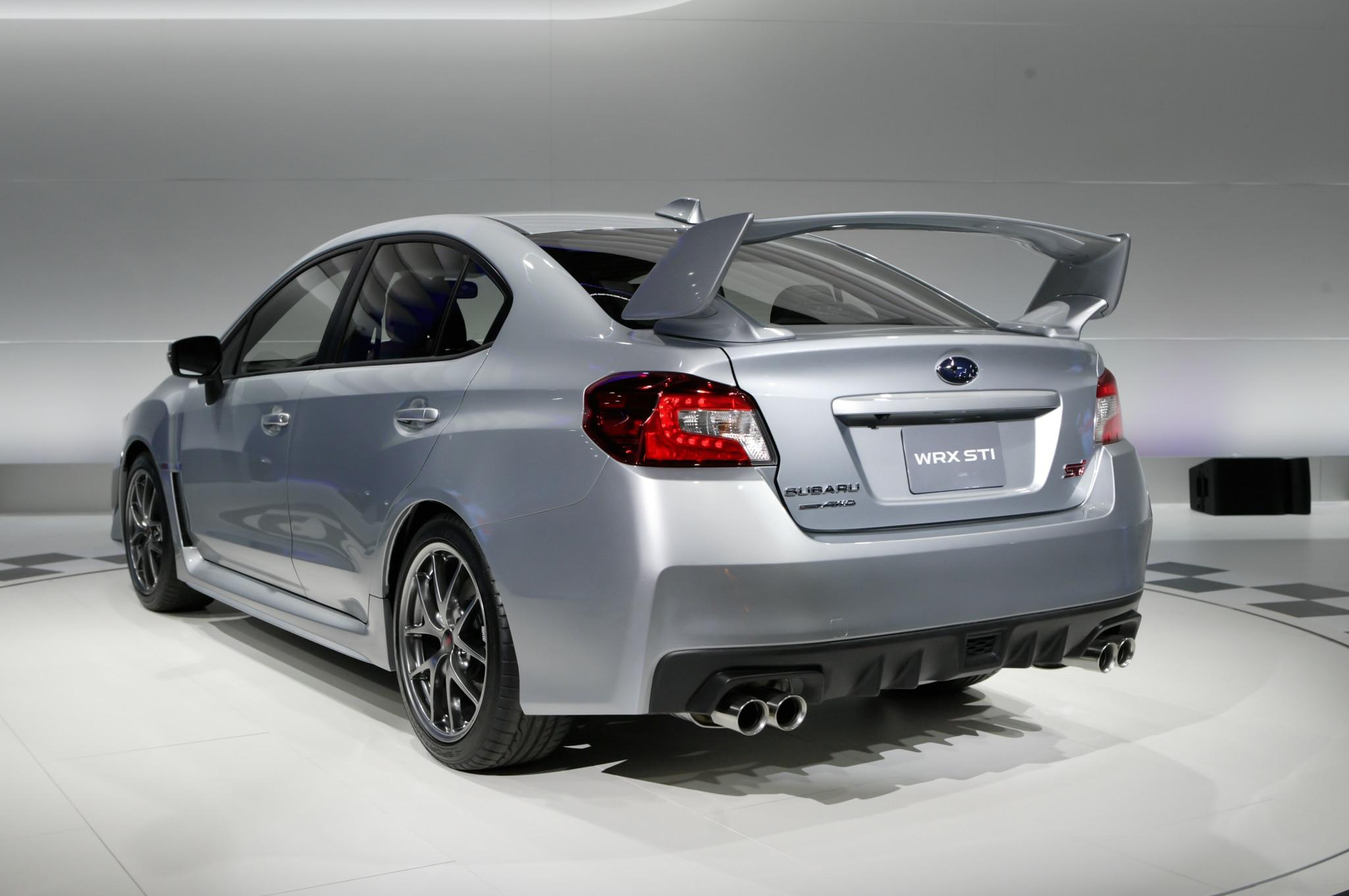 Detroit 2014 2015 Subaru WRX STI Continues Its GoFast Legacy