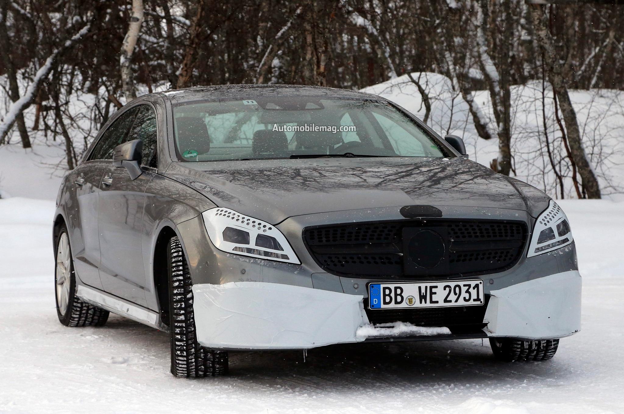 2015 Mercedes Benz Cls Facelift Spied Front1