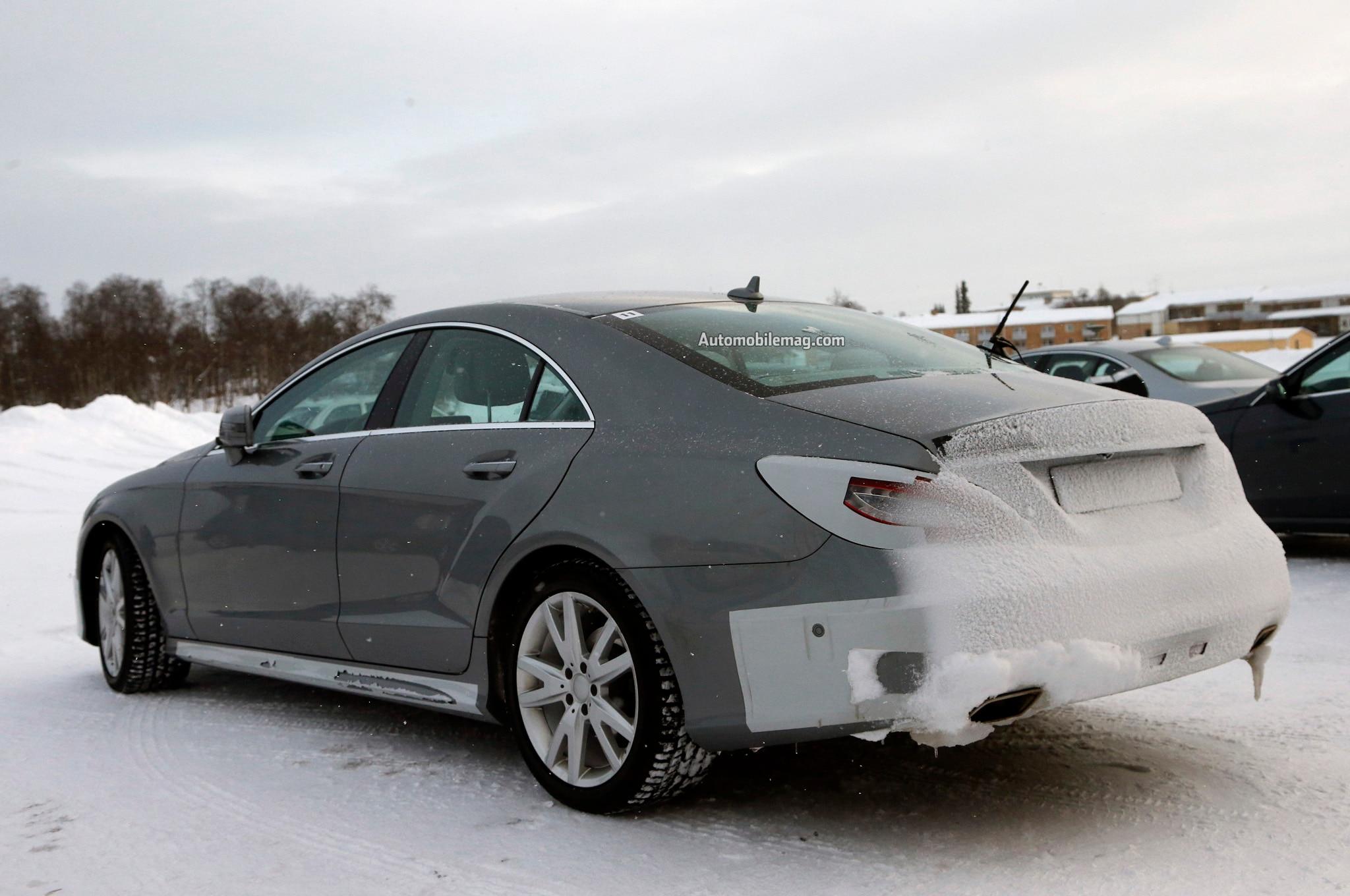2015 mercedes benz cls class facelift spied automobile for 2015 mercedes benz cl