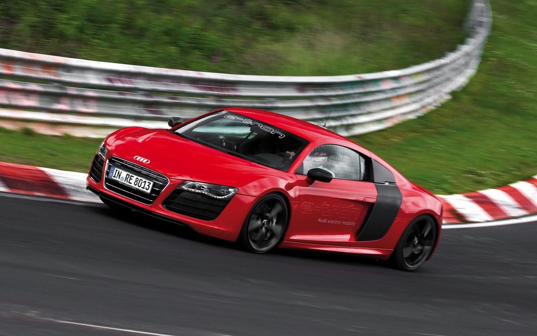 Audi R8 E Tron Front Three Quarter Track 11