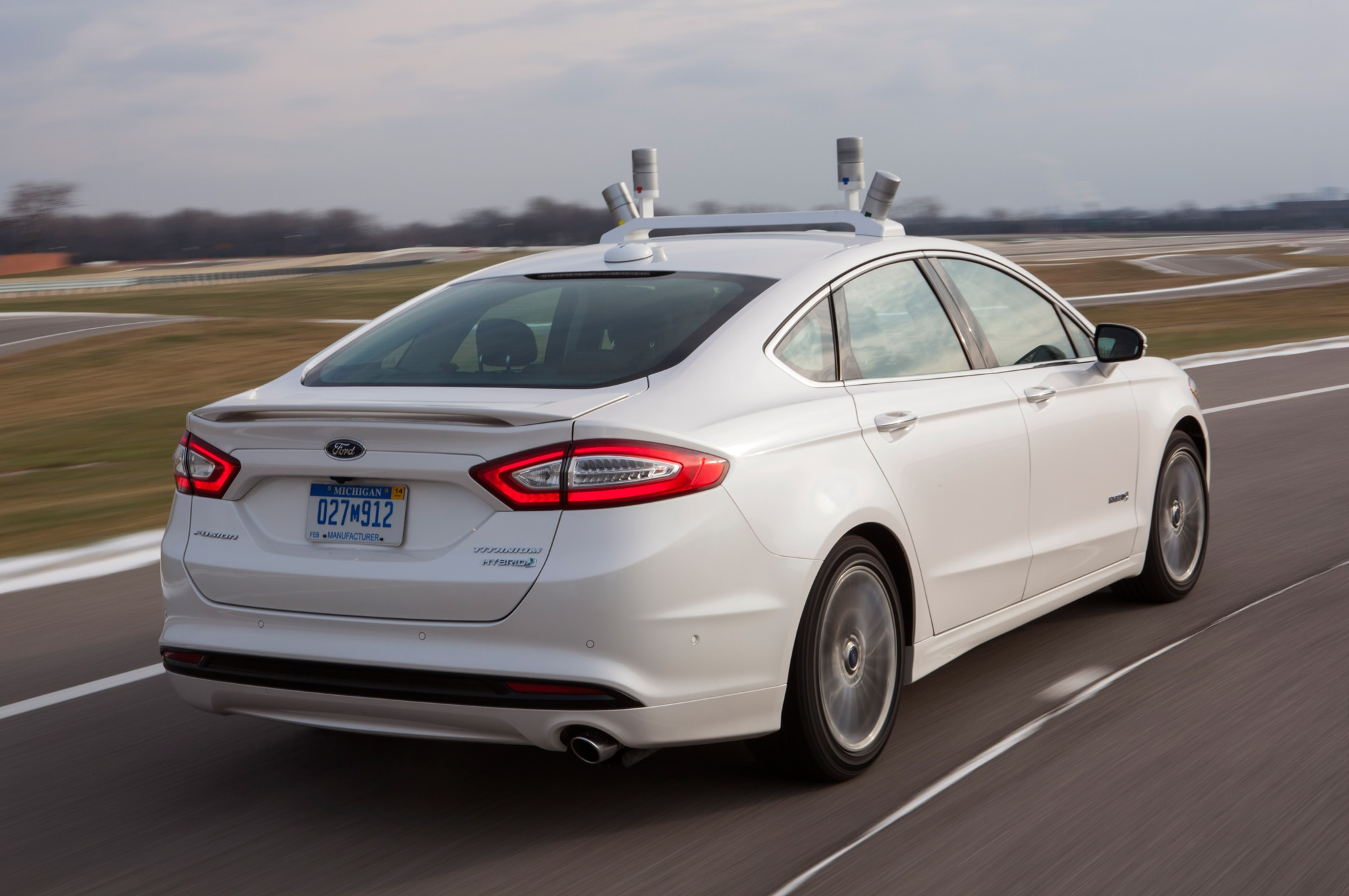 Ford Fusion Hybrid Research Vehicle Rear Three Quarter1