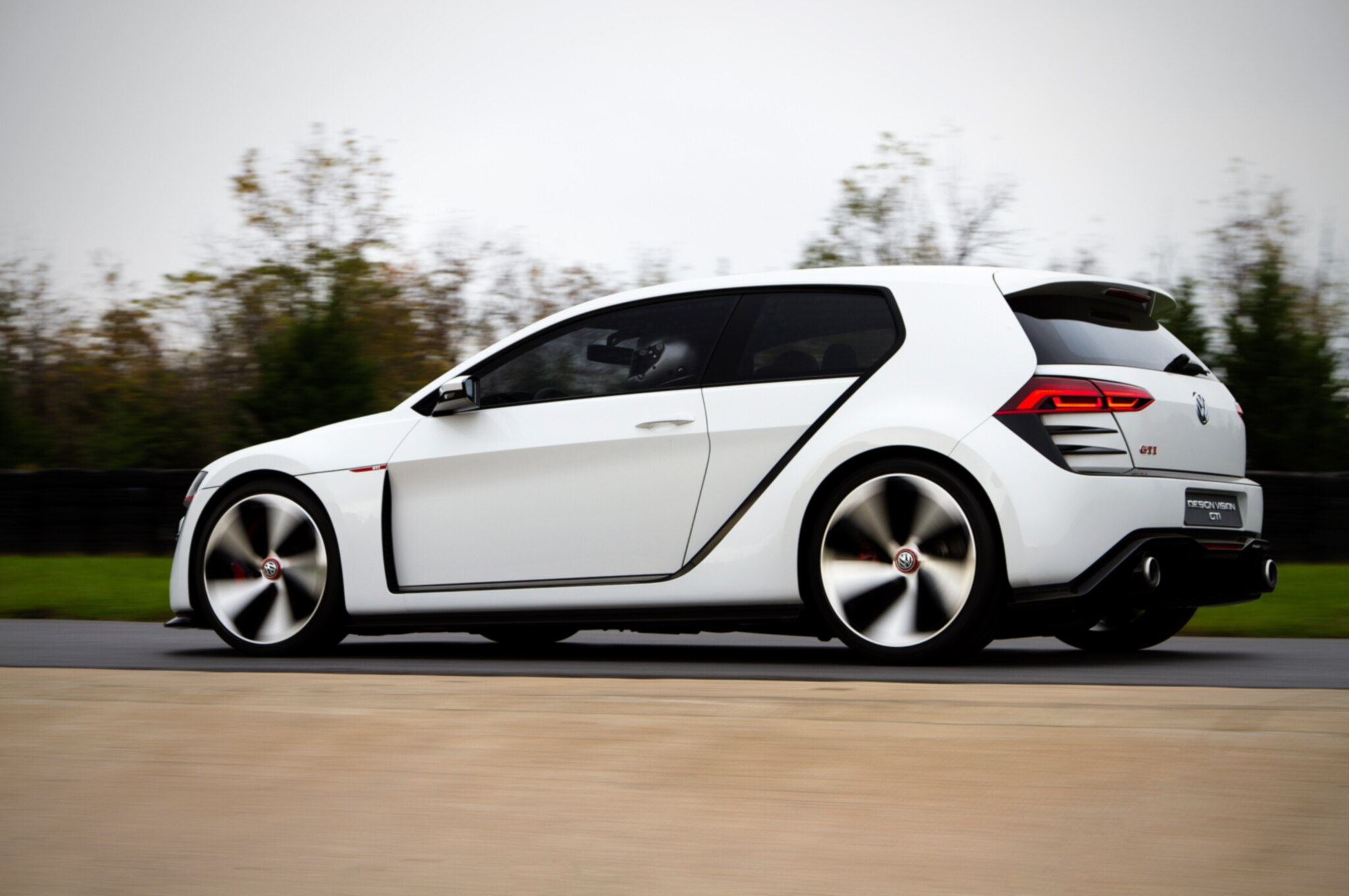 Volkswagen Design Vision GTI Concept Rear Three Quarter In Motion1