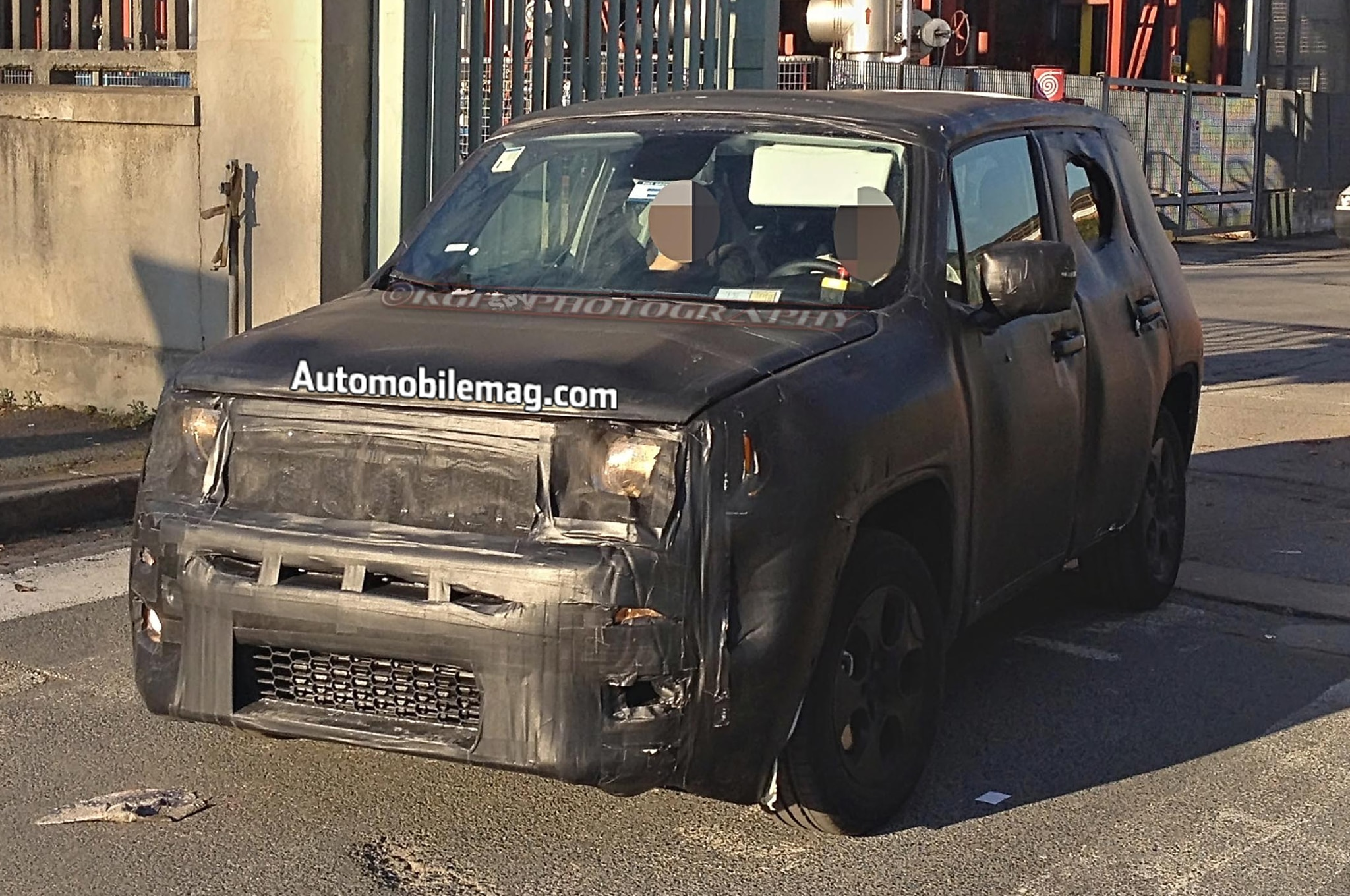 Jeep Jeepster Prototype Spied Front Three Quarter 11