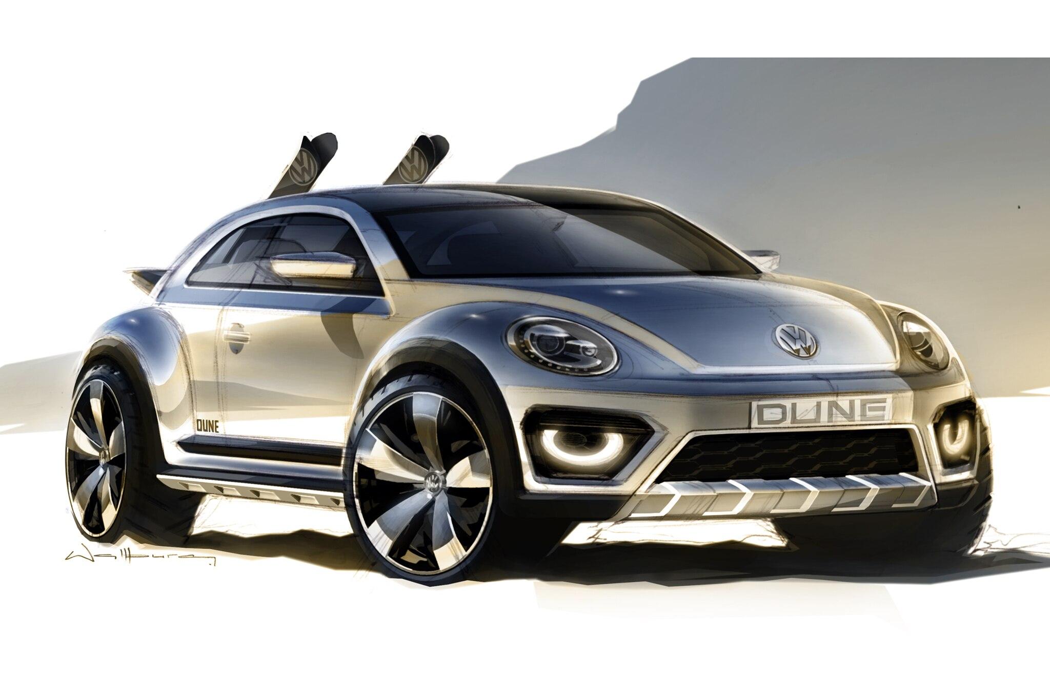 Volkswagen Beetle Dune Concept Teaser Front Three Quarter1