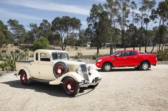 1934 Ford Ute With Australian 2014 Ford Ranger 660x438