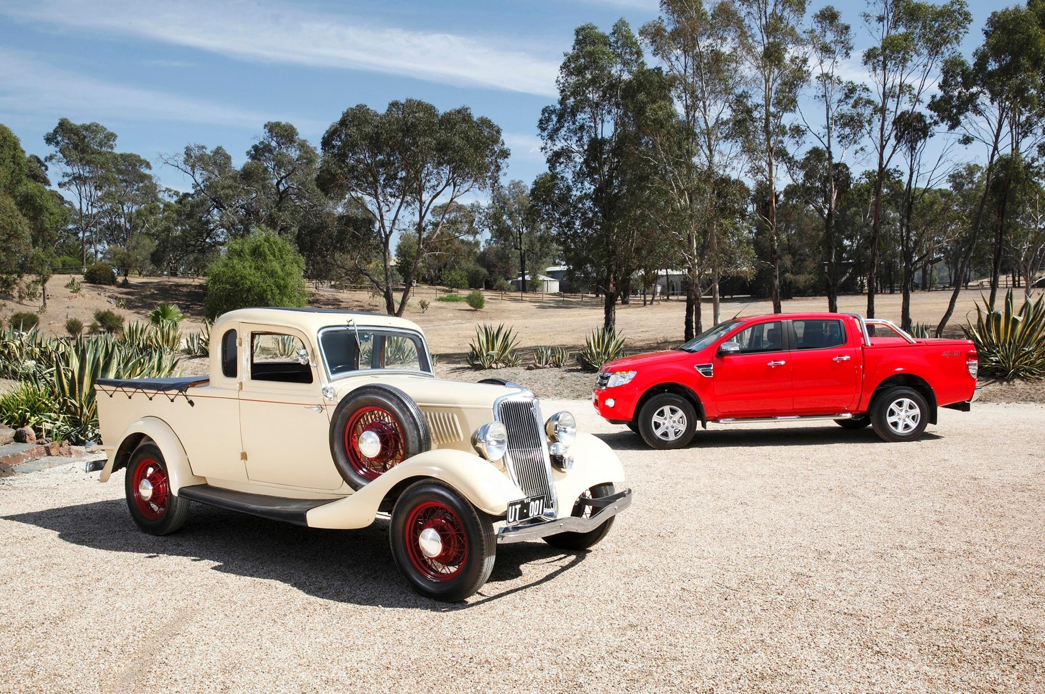 1934 Ford Ute With Australian 2014 Ford Ranger