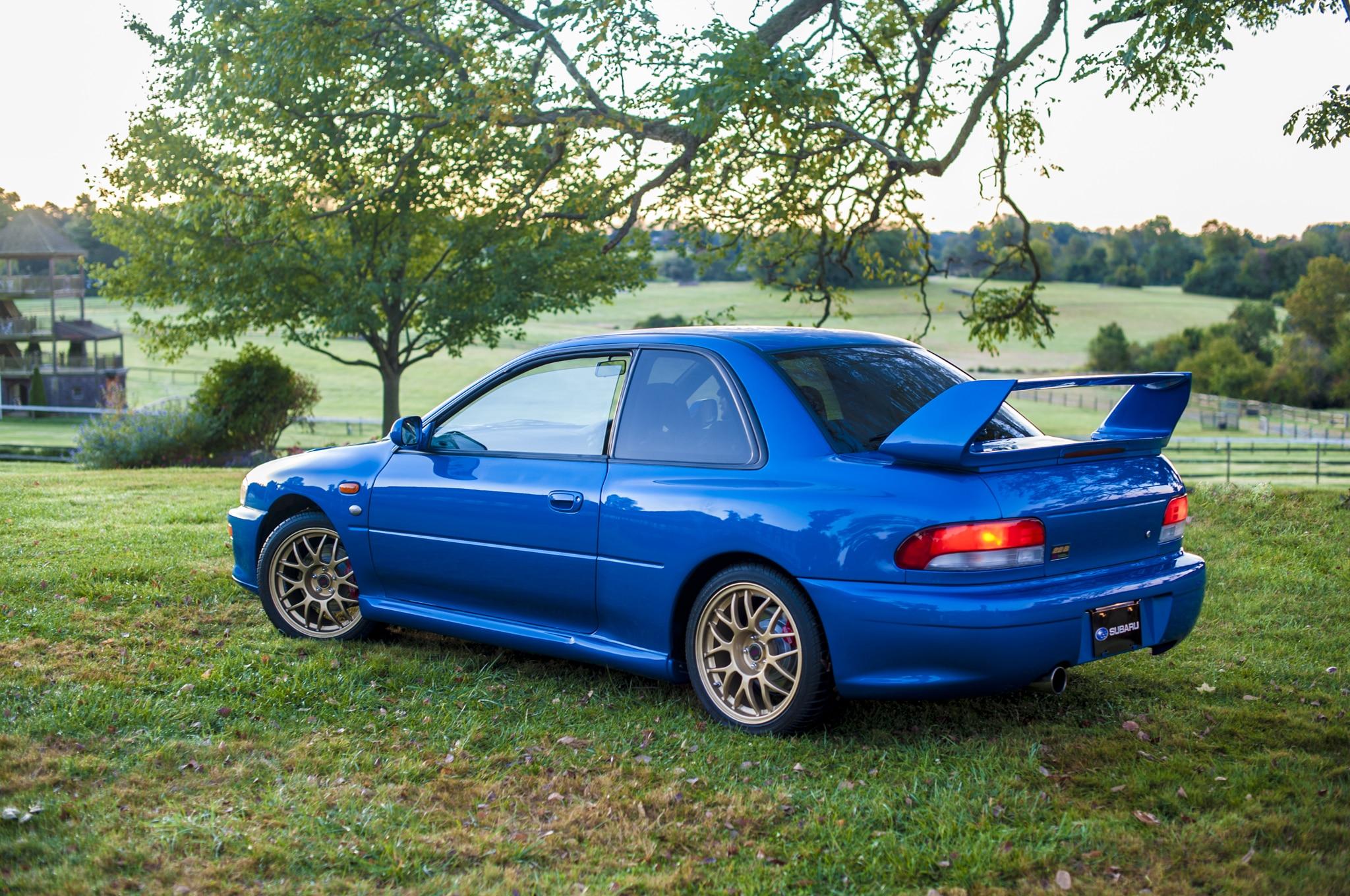 1998 Subaru Impreza 22b Sti Rear Three Quarter1