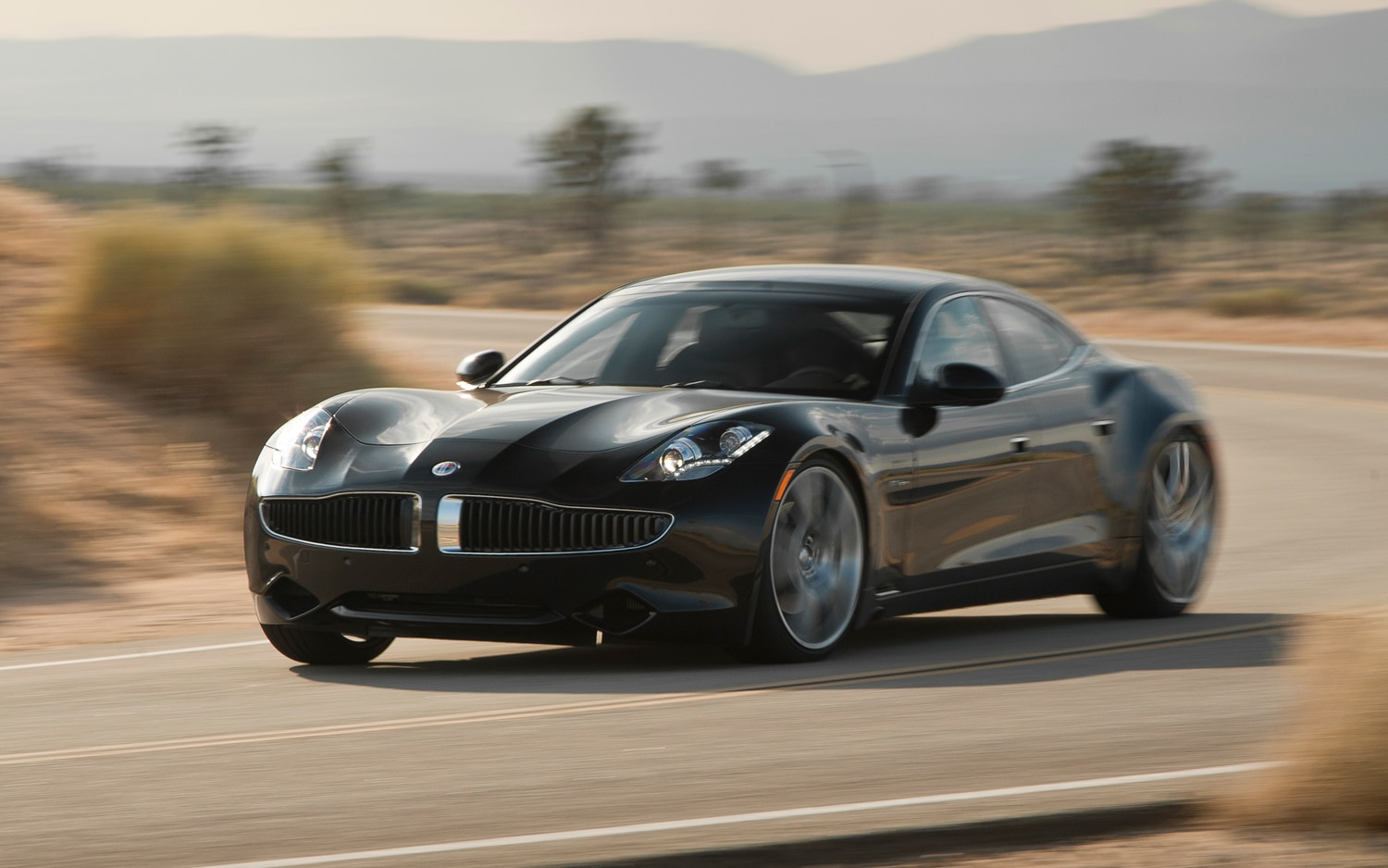 2012 Fisker Karma Pre Production Front Three Quarters In Motion Copy1