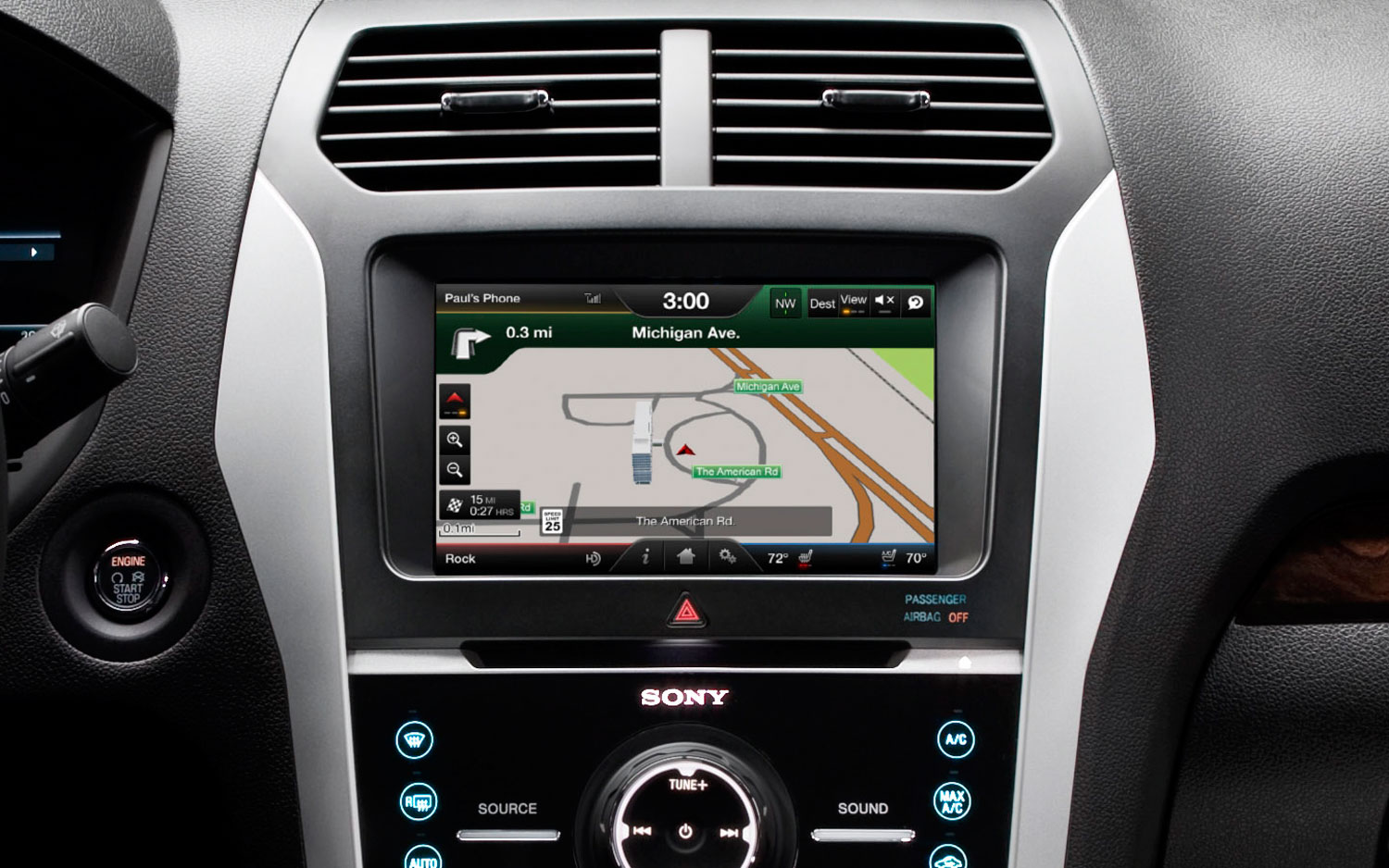 2012 Ford Explorer MyFordTouch Navigation Map