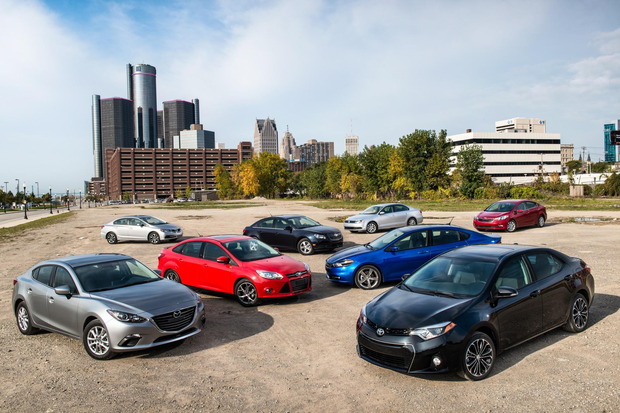 2014 Automobile Magazine Compact Sedan Comparison Day One 8 Car Group Image 1