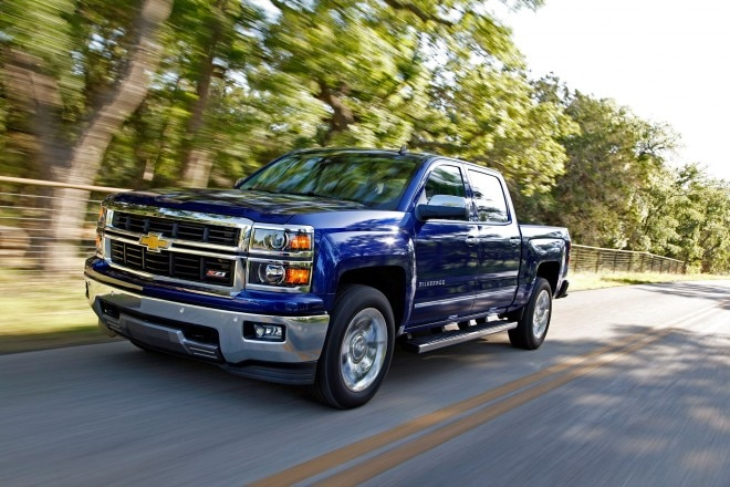 2014 Chevrolet Silverado LTZ Front Drivers Side In Motion1 660x440