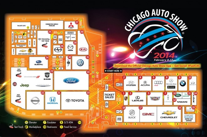 2014 Chicago Auto Show Walking Guide Floorplan Image 660x438