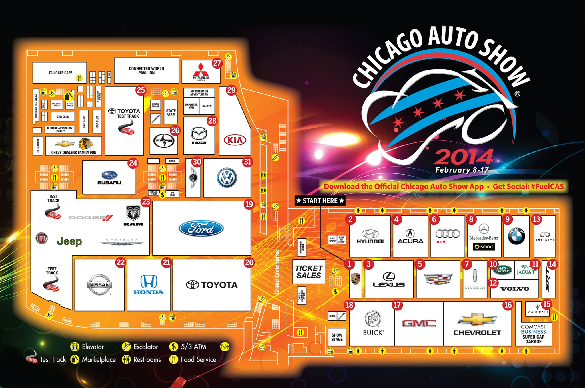 2014 Chicago Auto Show Walking Guide Floorplan Image