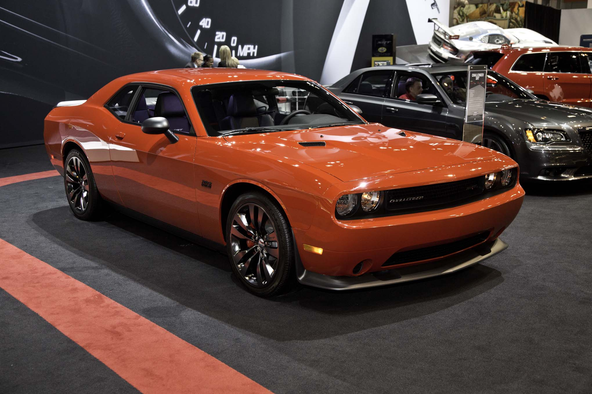 2014 Dodge Challenger SRT Satin Vapor Edition Front Three Quarters2