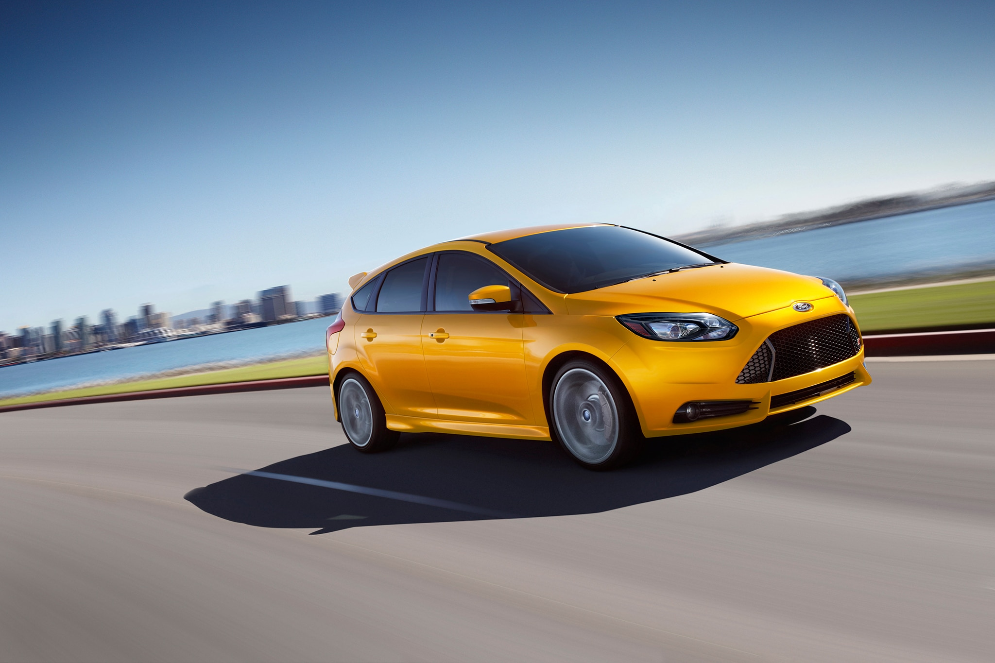 2014 Ford Focus ST Front Passengers In Motion1