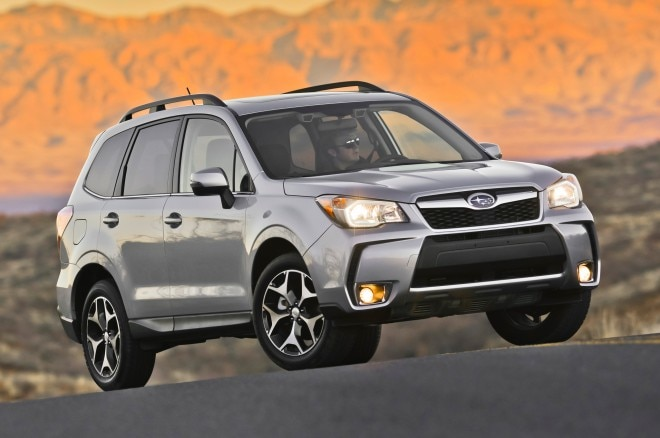 2014 Subaru Forester XT Passengers Side Front Three Quarters View 251 660x438