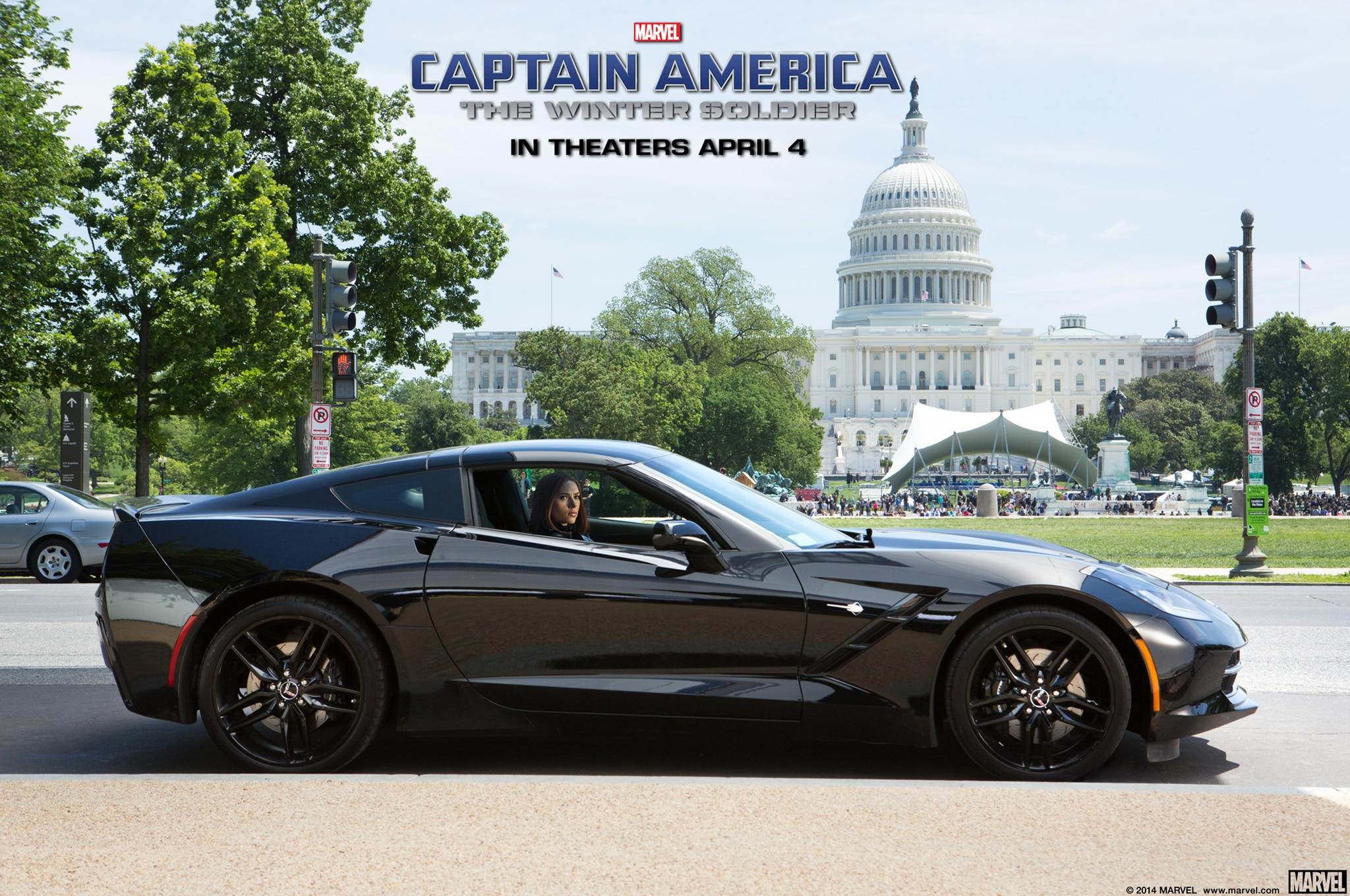 2014 Chevrolet Corvette Stingray Black Widow Captain America Profile1