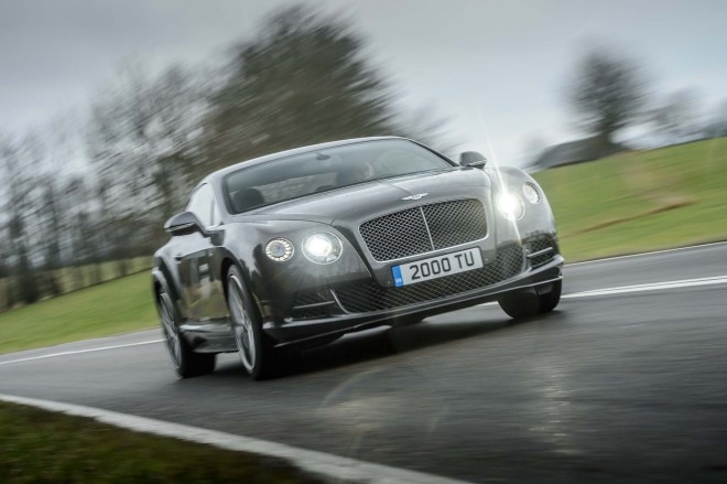 2015 Bentley Continental GT Speed Front Three Quarters In Motion1 660x439