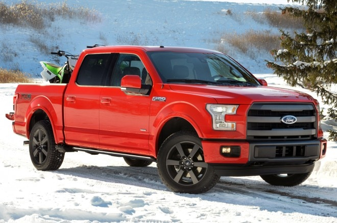 2015 Ford F 150 Front Side View In Snow 660x438