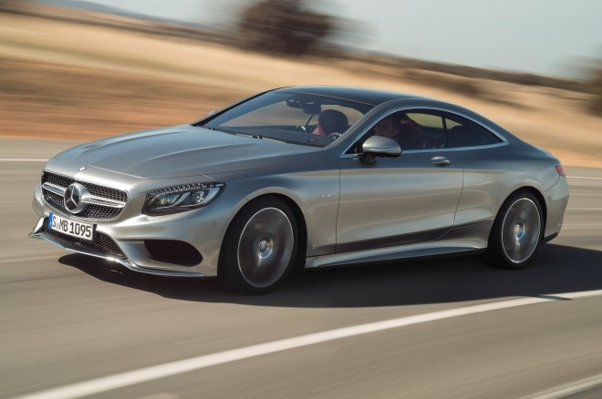 2015 Mercedes Benz S Class Coupe Front Side Motion View1 660x438