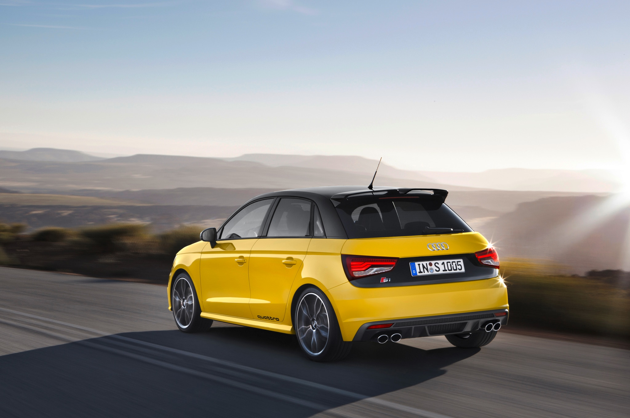 2015 Audi S1 Sportback Rear Three Quarter In Motion1