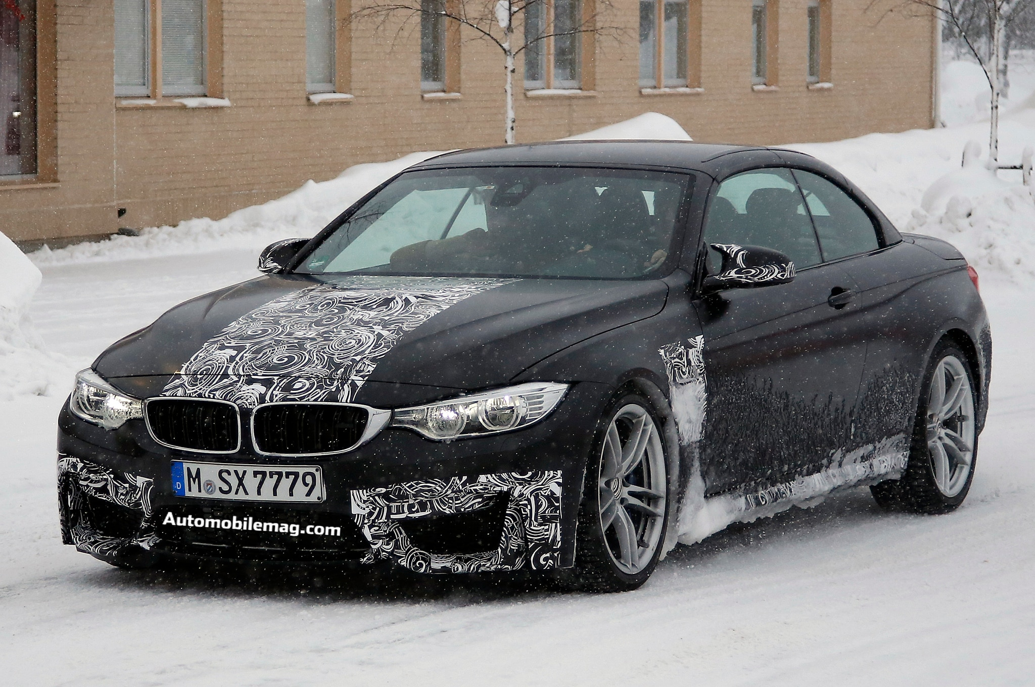 2015 bmw m4 convertible spied almost completely undisguised automobile magazine. Black Bedroom Furniture Sets. Home Design Ideas