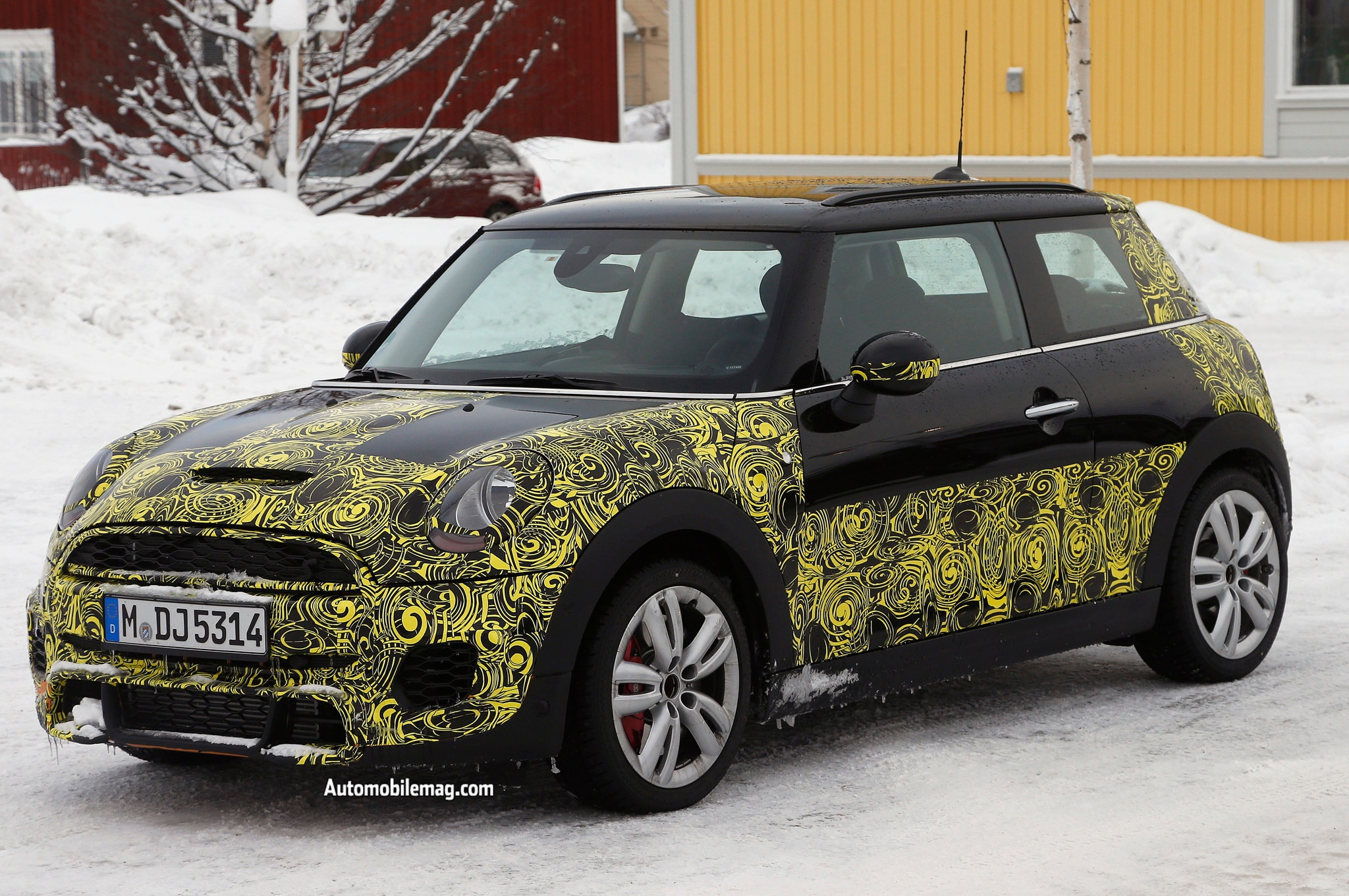 2015 Mini Cooper Jcw Spied Front Three Quarter1