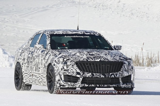 2016 Cadillac Cts V Spied Front Three Quarter 011 660x438