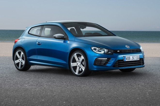 Facelifted Volkswagen Scirocco R Front Side View2 660x438