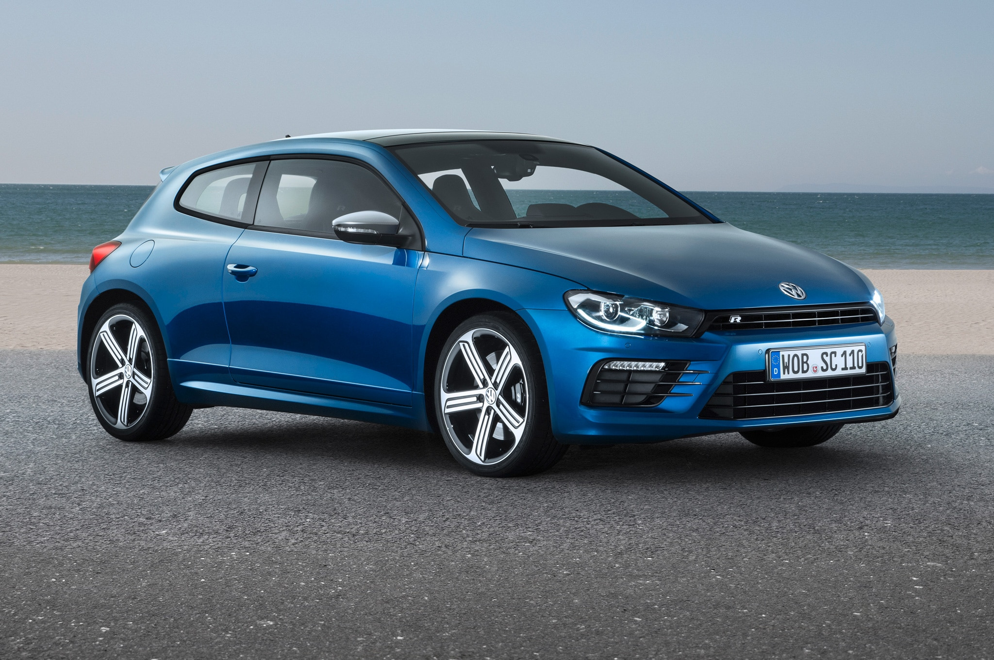 Facelifted Volkswagen Scirocco R Front Side View2
