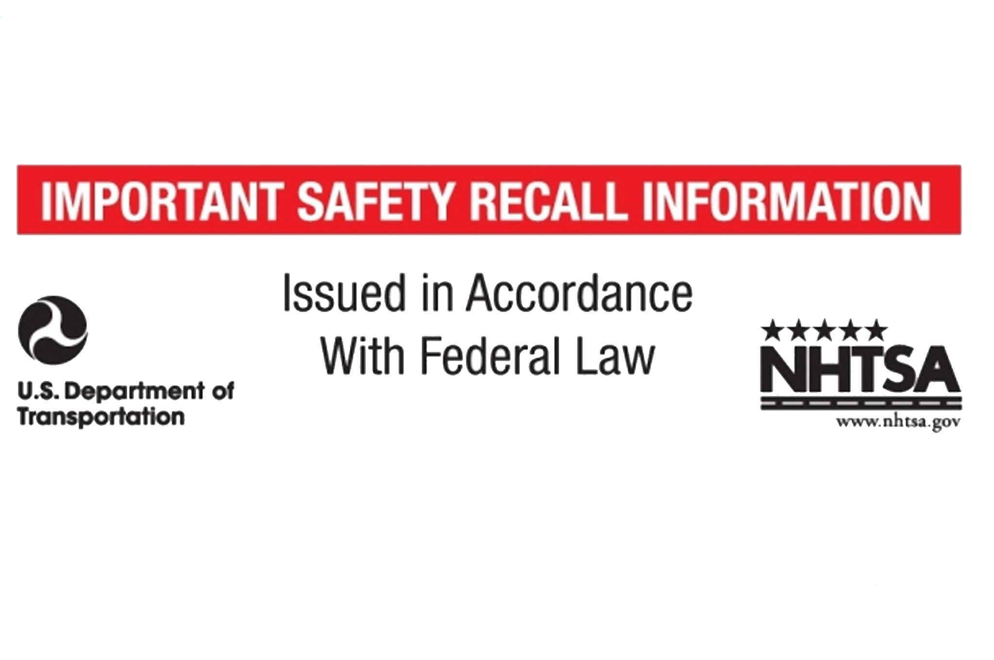 NHTSA New Recall Label