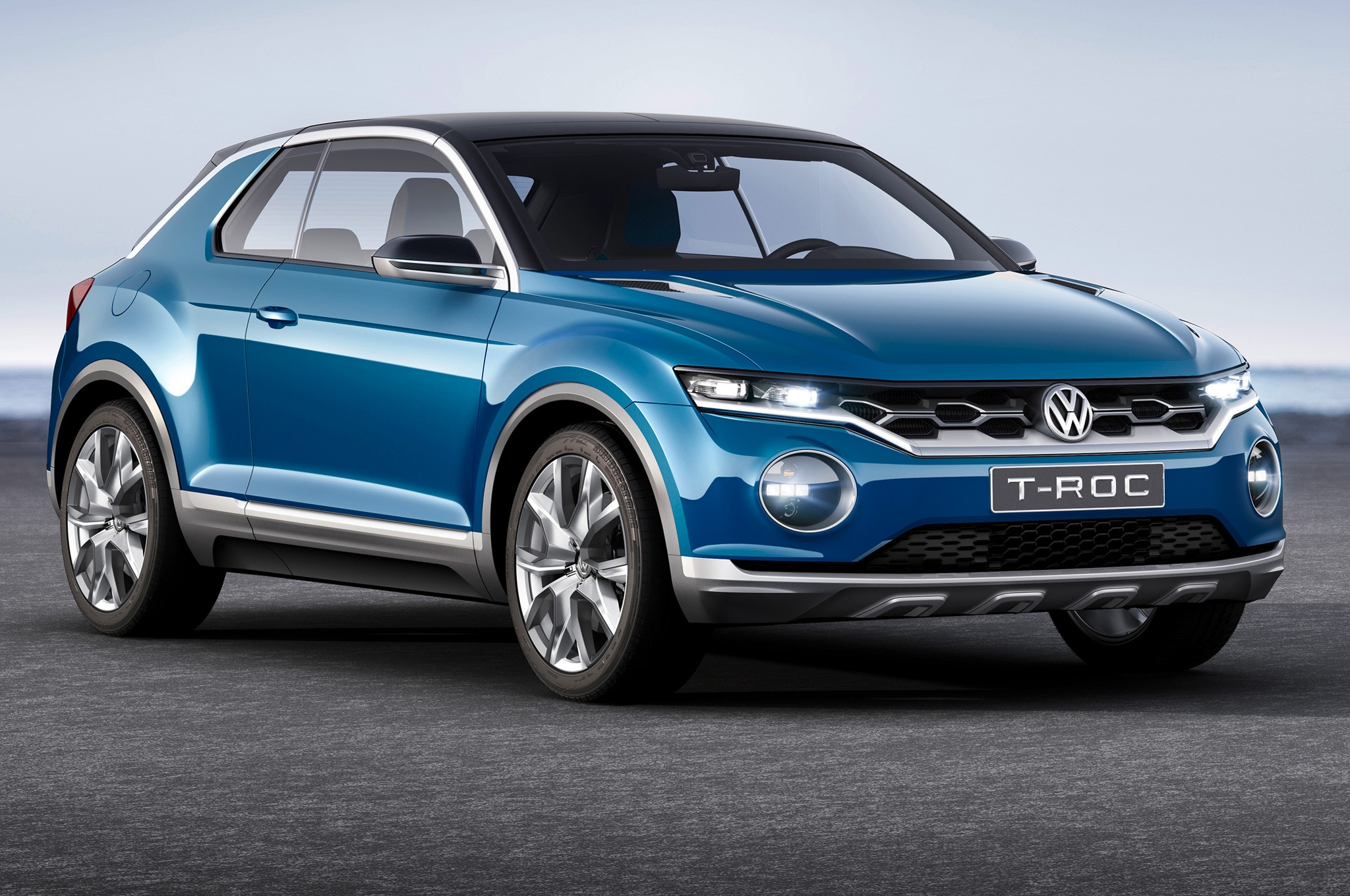 volkswagen t roc concept debuts in geneva automobile. Black Bedroom Furniture Sets. Home Design Ideas