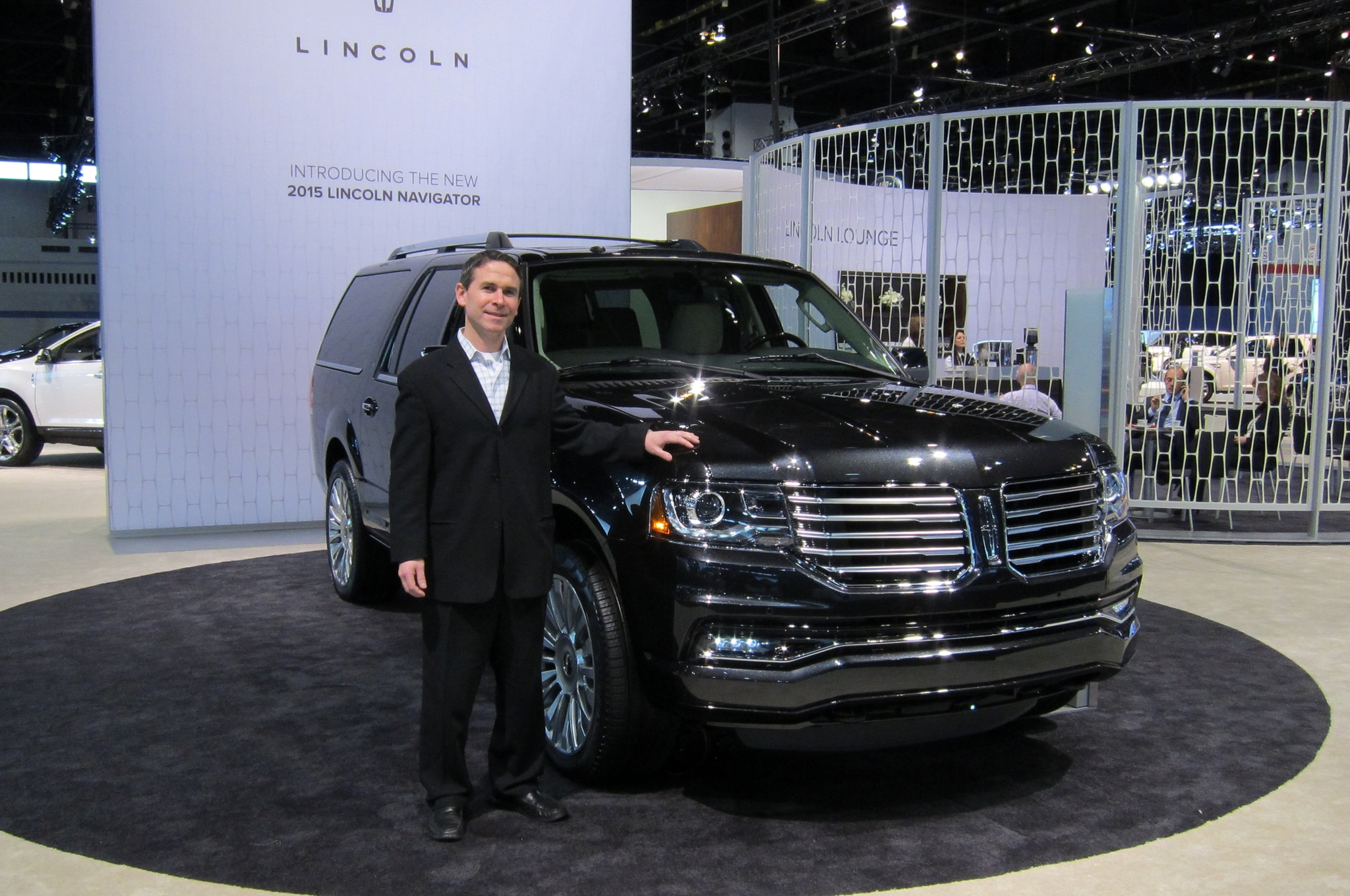 Carey White With 2015 Lincoln Navigator