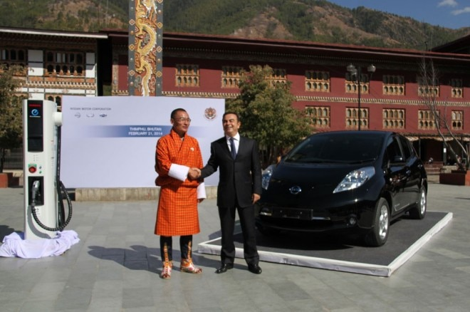 Nissan Leaf Bhutan Tobgay Ghosn 660x438