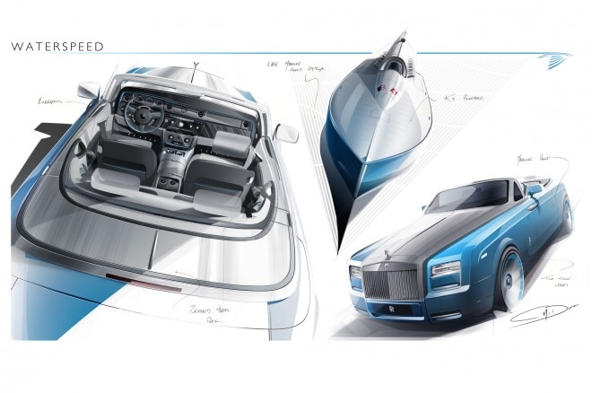 Rolls Royce Phantom Drophead Waterspeed Sketch 660x438