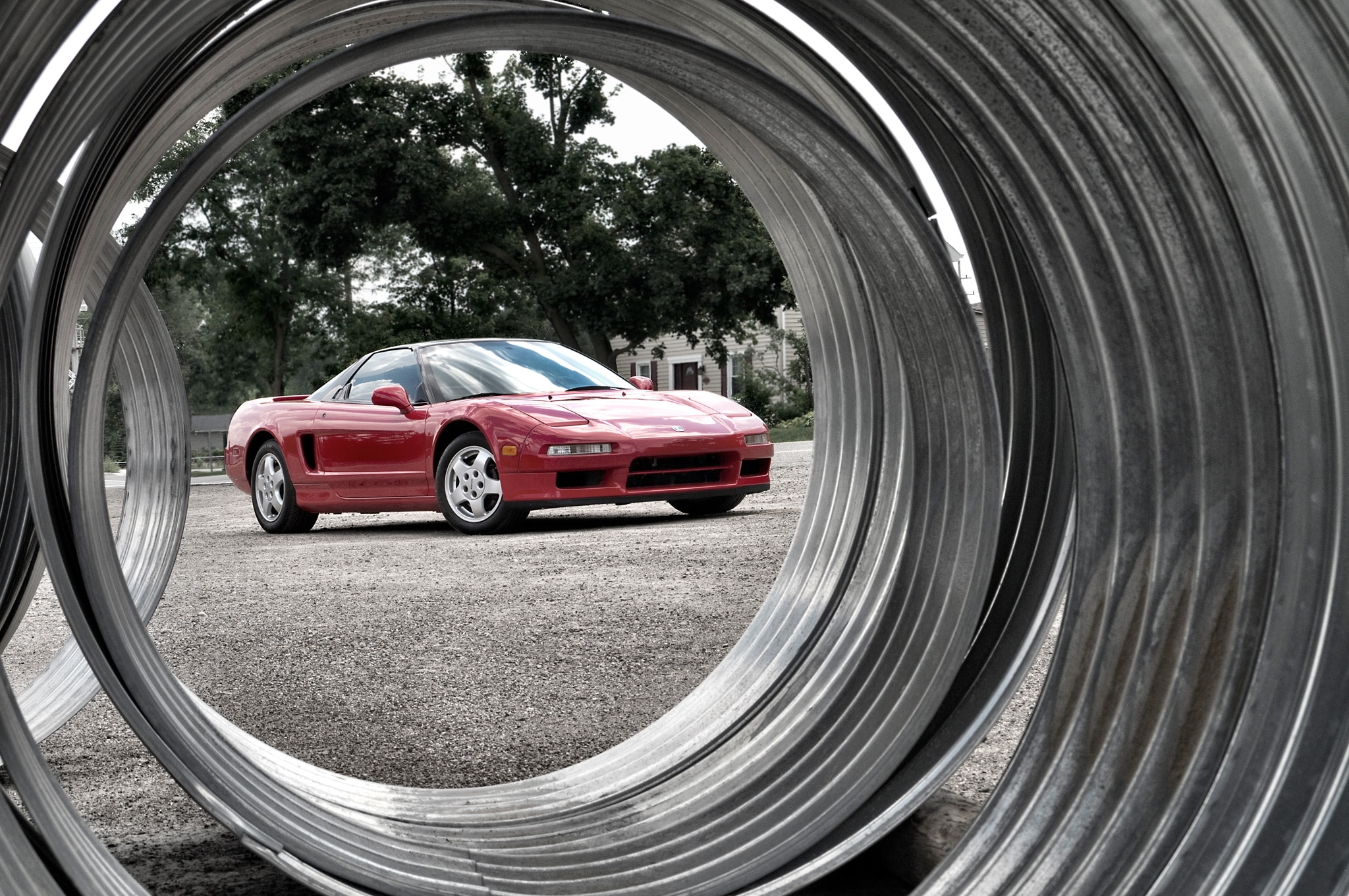 1991 Acura NSX Front Three Quarters View Through Piping1