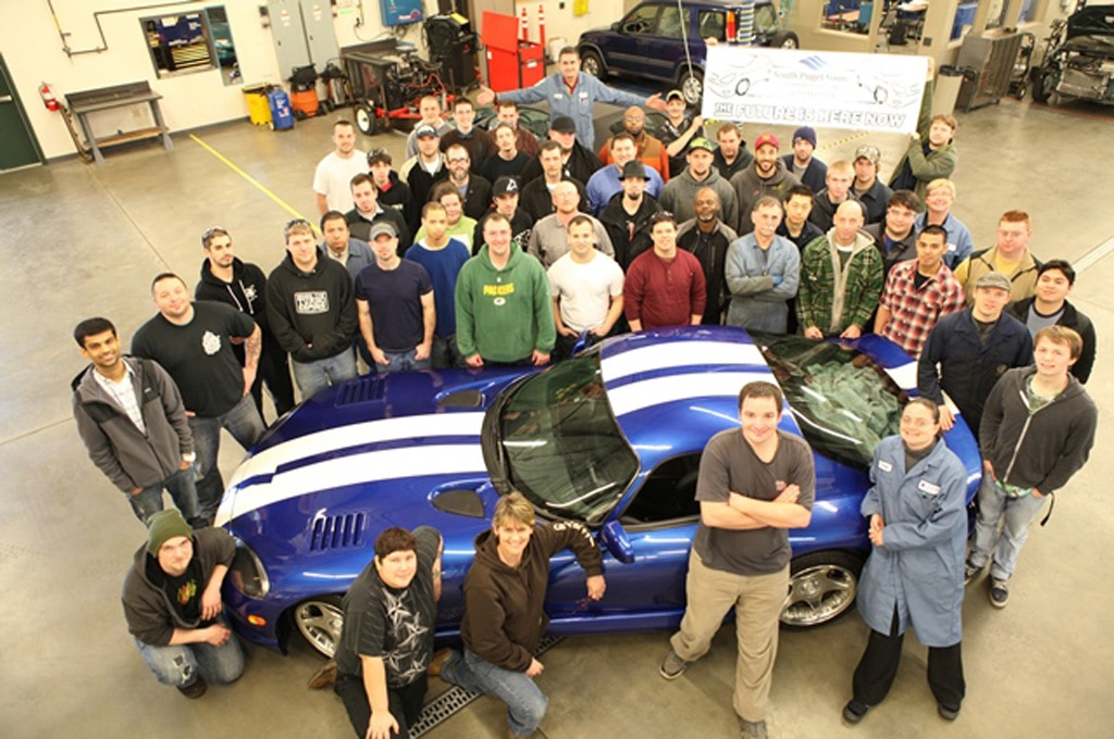 1992 Dodge Viper Coupe Prototype South Puget Sound Community College Group Shot1