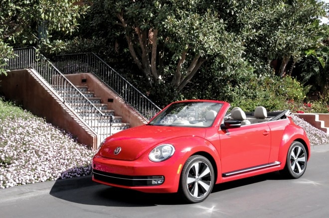 2013 Volkswagen Beetle Turbo Convertible Front Three Quarters California1 660x438