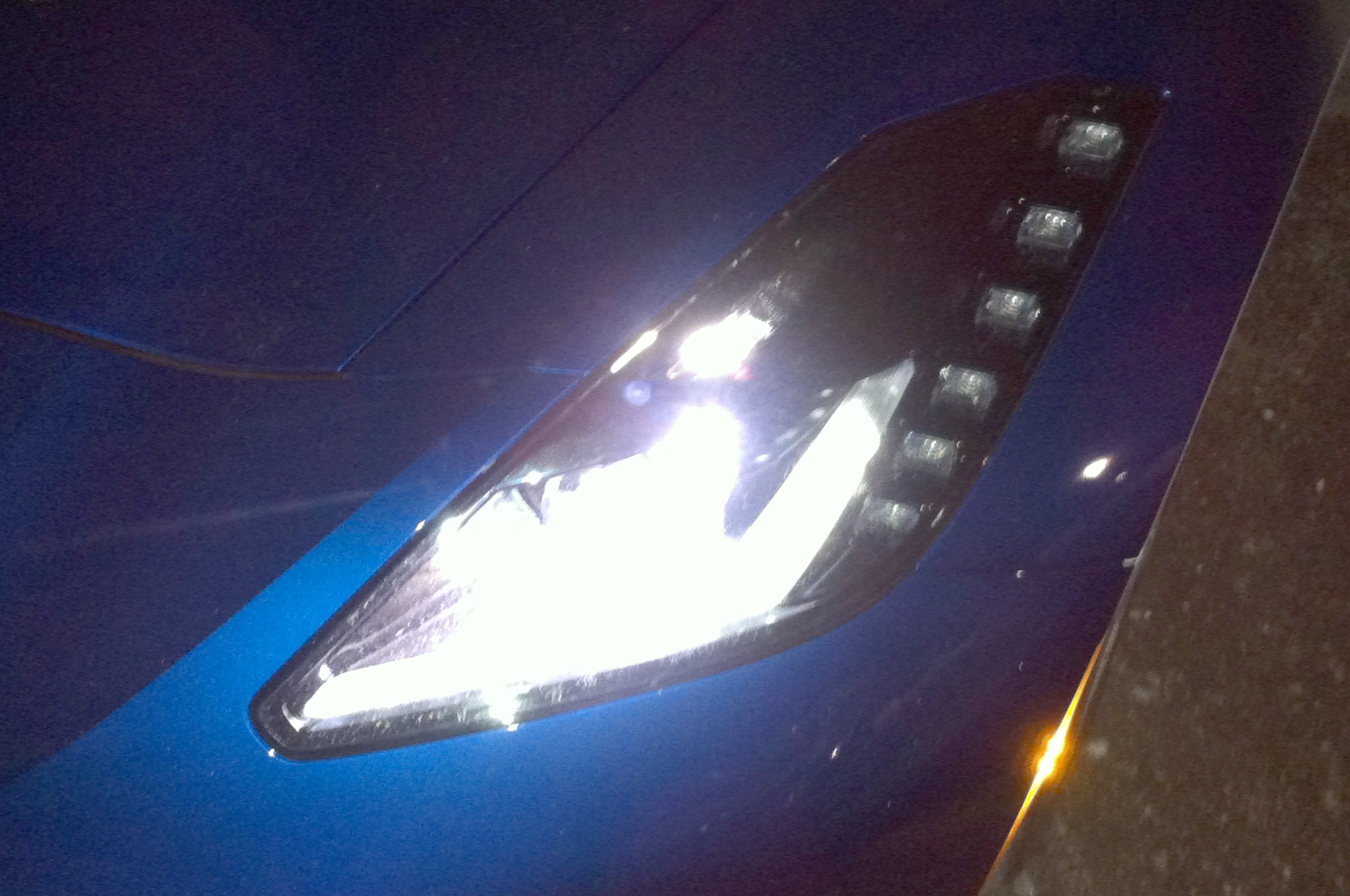2014 chevrolet corvette stingray convertible headlight - Corvette Stingray Light Blue